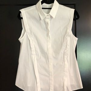 Sleeveless Anne Fontaine button down s 44 (8/10US)